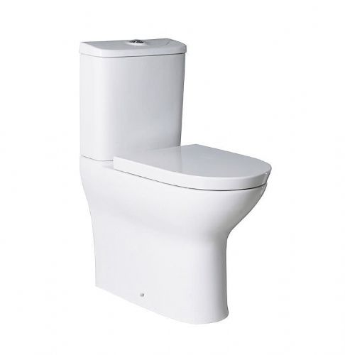 Roca Colina Comfort Height Close Coupled Toilet With Dual Flush Cistern - Soft-Close Seat - White